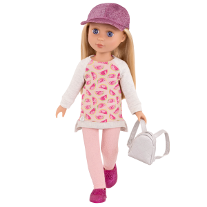 Glitter Girls Head To Toe Glimmer Outfit & Backpack with Doll Lacy