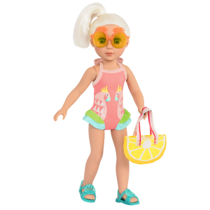Glitter Girls Ray of Light Swimsuit Outfit with Doll Elula
