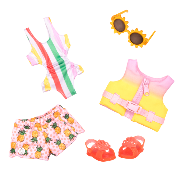 Glitter Girls Bright As the Sun Swimsuit Outfit