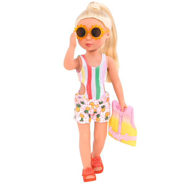Glitter Girls Bright As the Sun Swimsuit Outfit & Life Jacket