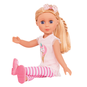 Glitter Girls Posable 14-inch Doll Lacy Blonde Hair Blue Eyes