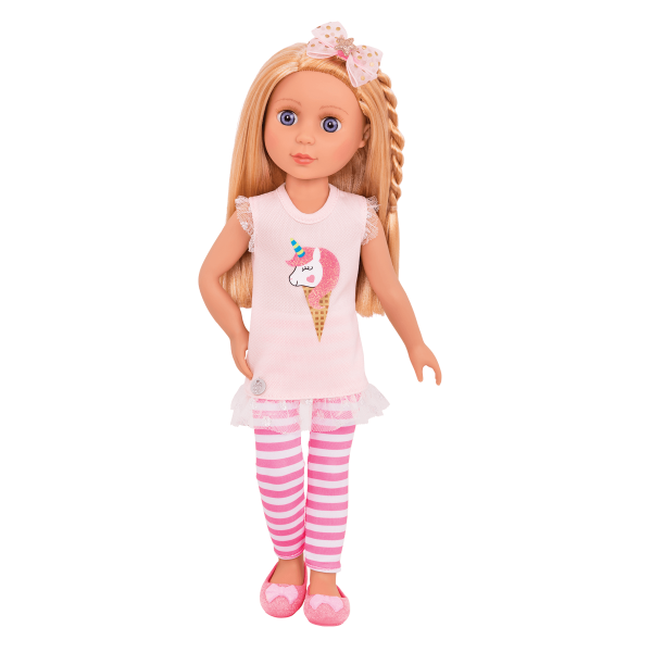 Glitter Girls Posable 14-inch Doll Lacy Unicorn Outfit