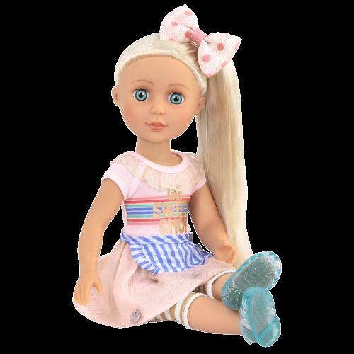 Glitter Girls Posable 14-inch Doll Chrissy Blonde Hair Blue Eyes