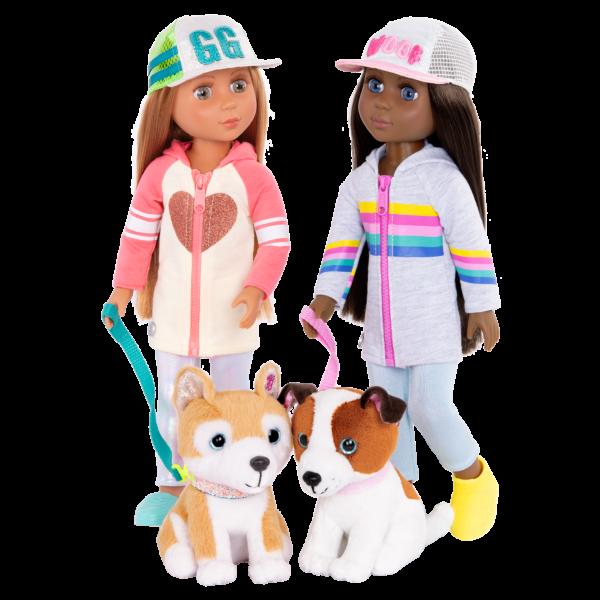 Glitter Girls Posable 14-inch Doll Tavi & Plush Dog Nougat Jana & Cuddles