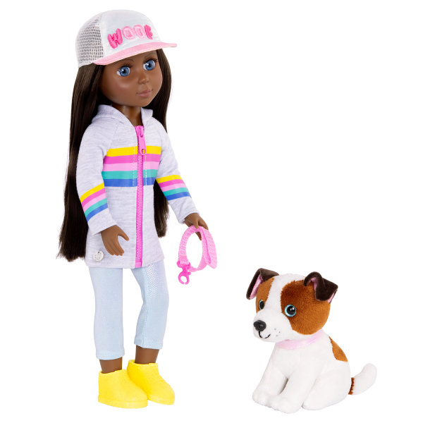 Glitter Girls Doll & Pet Jana Posable Cuddles Dog