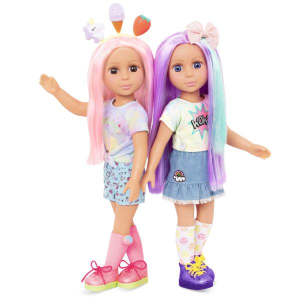 Posable 14-inch Doll Luma & Nixie Hair Accessories