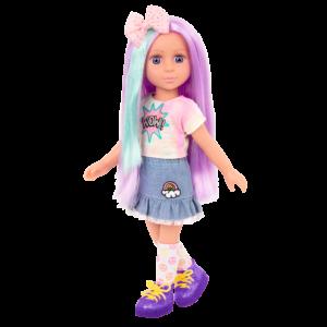 Posable 14-inch Doll Luma with Purple Hair