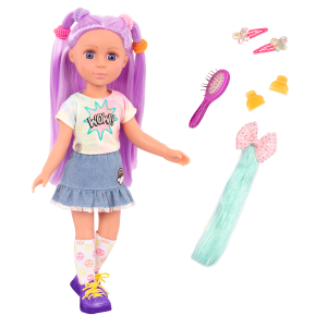 Posable 14-inch Doll Luma with Hair Accessories
