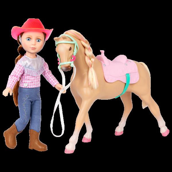 """Glitter Girls Poseable 14"""" Doll Jaime & Horse Jumper"""