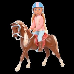 Glitter Girls Posable Doll Milla & Horse Milkyway Equestrian Theme