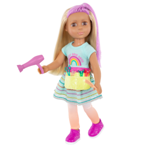 "Glitter Girls 14"" Hairdresser Doll Brie with Hair Dryer"