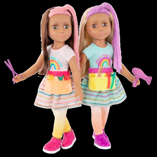 "Glitter Girls 14"" Hairdresser Dolls Brie & Lara"