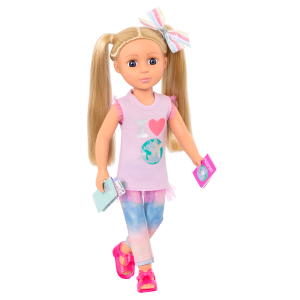 Glitter Girls Poseable 14-inch Travel Doll Percy Blonde Hair