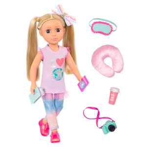 Glitter Girls Poseable 14-inch Travel Doll Percy