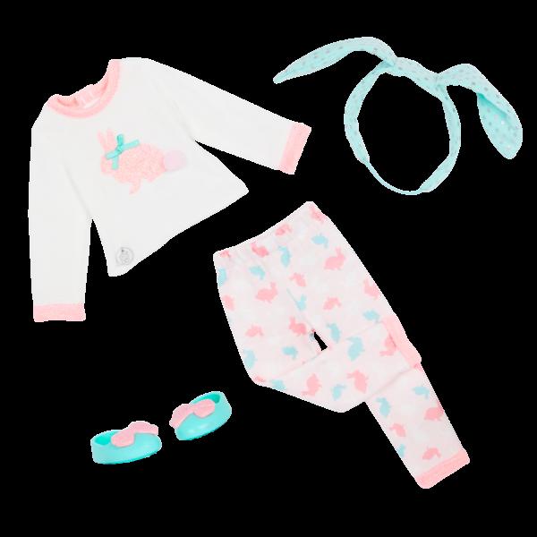 Glitter Girls Eniko 14-inch Doll Bunny Pajama Outfit