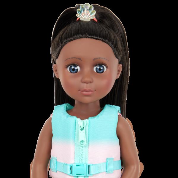 Glitter Girls Dolls Malu Brown Hair Blue Eyes Seashell Hair Clip
