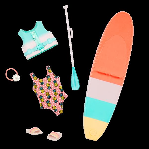 Glitter Girls Dolls Malu Swimsuit Life Jacket Paddle Board Accessories