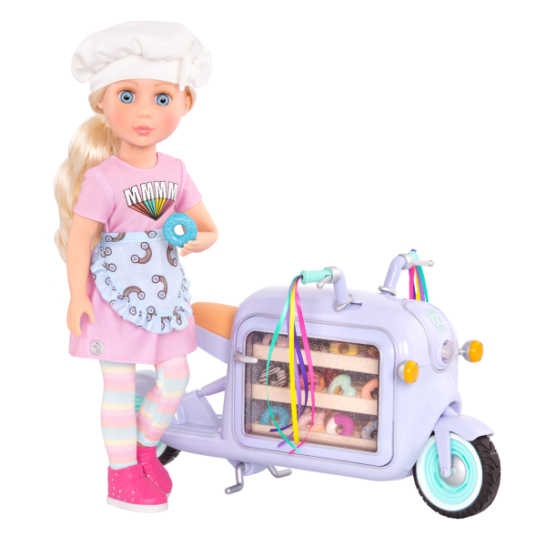 Glitter Girls Posable 14-inch Doll Maren Donut Delivery Scooter
