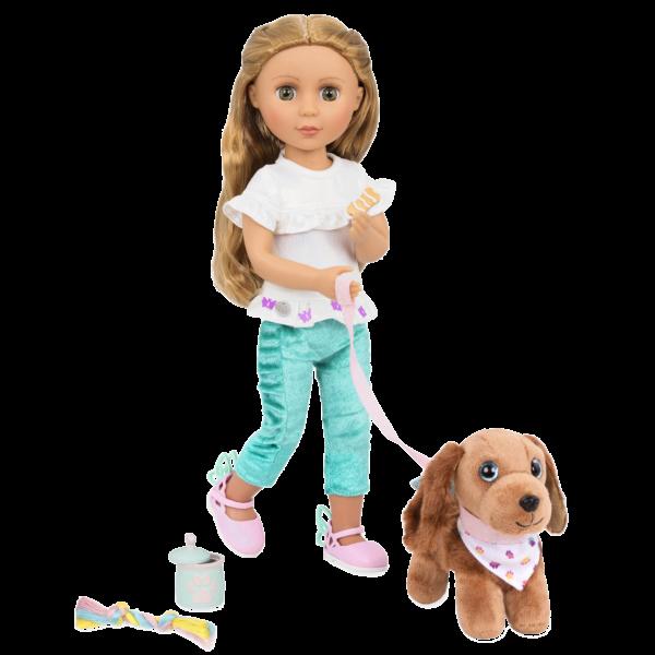 Glitter Girls Pet Play Set Accessories with Bobbi & Dog Plush Hazel