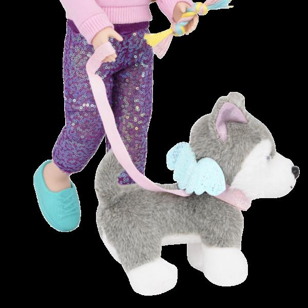 Glitter Girls Pet Play Set Dog Leash & Plush Pup Husky Alaska