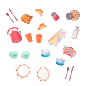 Glitter Girls Doll Play Food Breakfast Set