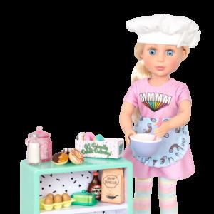 "Glitter Girls Donut Baking Play Food Set with 14"" Doll Maren"