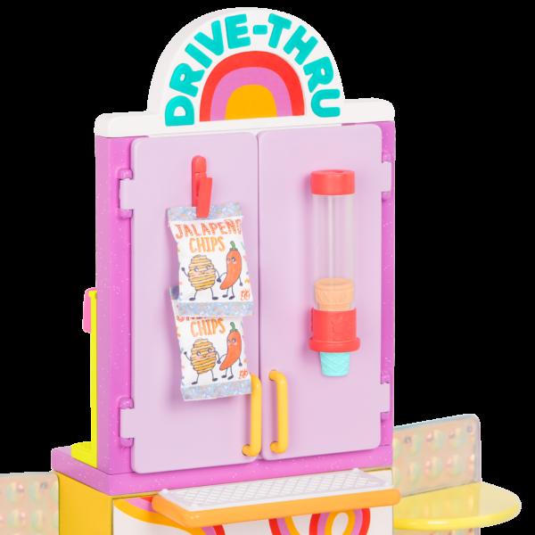 Glitter Girls Drive-Thru Restaurant Playset Ordering Window