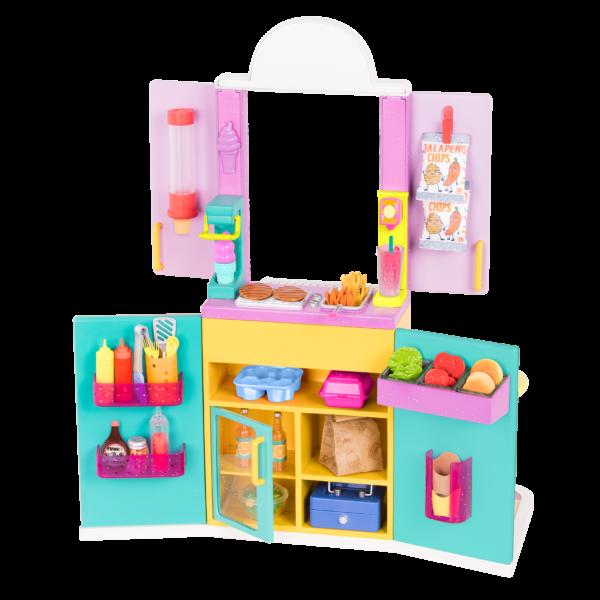 Glitter Girls Drive-Thru Window Playset with Play Food