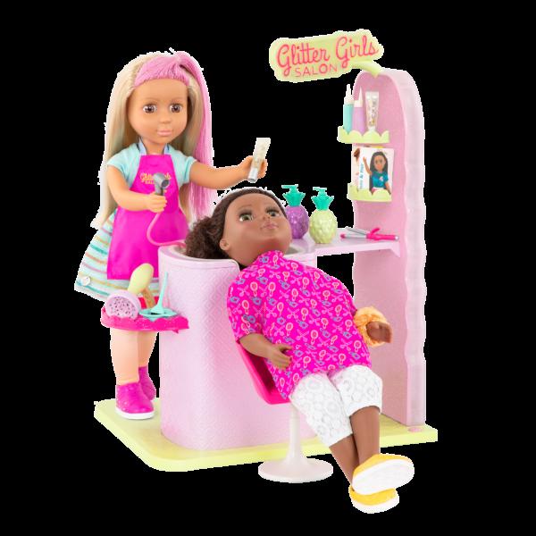 Glitter Girls Dolls Hair Salon Playset Brie & Nelly