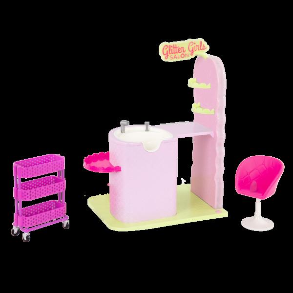 Glitter Girls Dolls Hair Salon Playset Cart & Chair