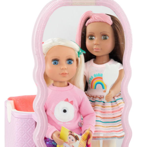 Glitter Girls Dolls Hair Salon Playset Real Mirror