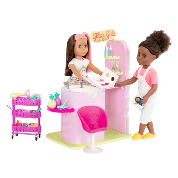 Glitter Girls Dolls Hair Salon Playset Colorful Styles with Lara & Nelly