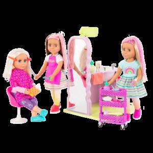 Glitter Girls Dolls Hair Salon Playset Styling with Elula, Brie & Lara