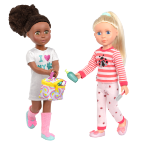 """Glitter Girls Travel Bag Set with 14"""" Dolls Nelly & Dayle"""