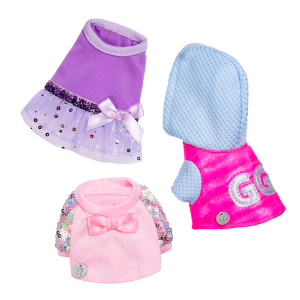 Glitter Girls Pet Outfit Set for Plush Dogs
