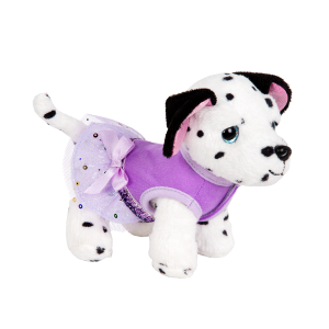 Glitter Girls Plush Dog Dress with Tulle Skirt