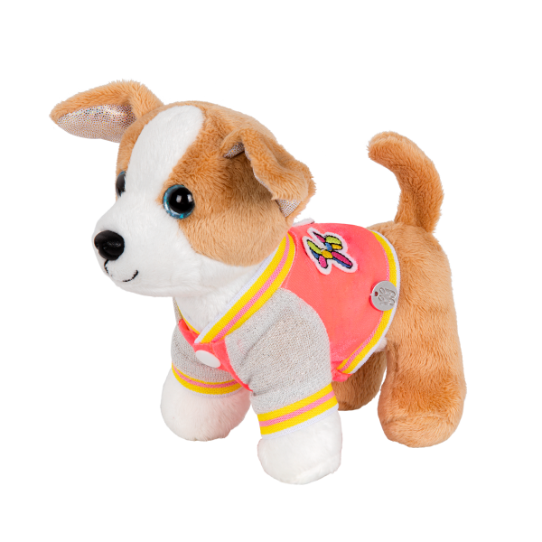 Sporty Jacket for Plush Pets with Fun Animal Patches