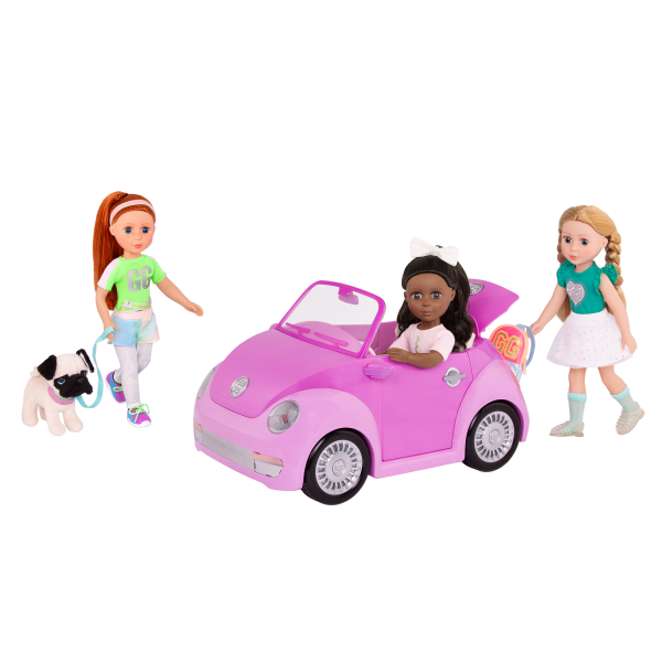 Glitter Girls Purple Convertible Car Charlie Keltie Emilia