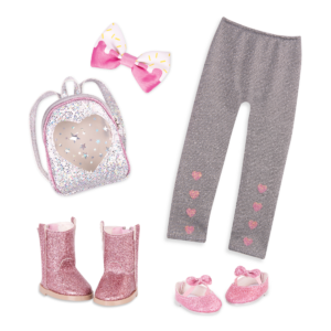 Glitter Theme 14-inch Doll Clothes & Accessories Fashion Pack