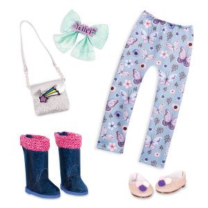 Pompoms & Stars Fashion Pack 14-inch Doll Clothes & Accessories