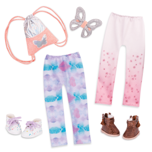 Butterflies & Dots Fashion Pack 14-inch Doll Clothes & Accessories