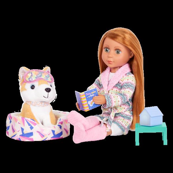 Glitter Girls Bedtime Pup Set Dog Bed & Storybook
