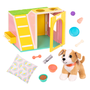 Glitter Girls Dog House Playset with Plush Pet Lollie & Accessories