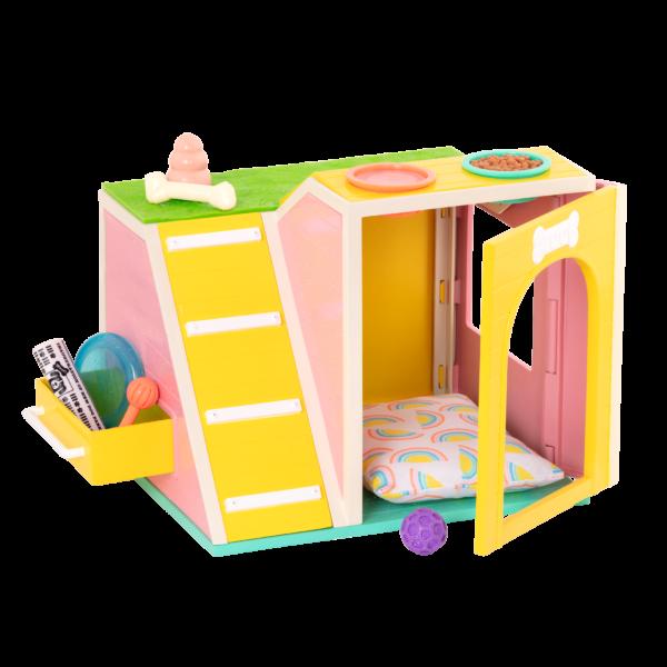 """Glitter Girls Dog House Playset for 14"""" Dolls"""