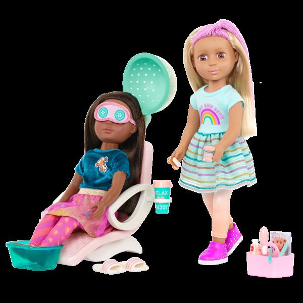 Glitter Girls Dolls Salon Chair Playset Eye Mask & Accessories