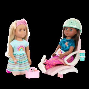 Glitter Girls Dolls Salon Chair Playset Odessa & Brie