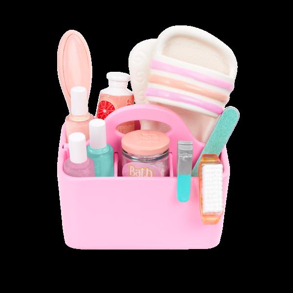 Glitter Girls Dolls Salon Chair Playset Portable Caddy Organizer