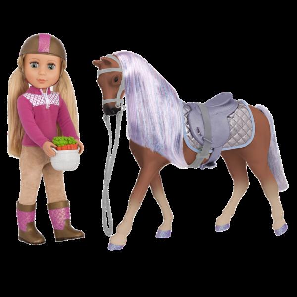 """Glitter Girls 14"""" Horse Celestial with Doll Fifer"""